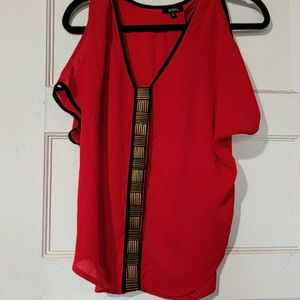 Xoxo red blouse